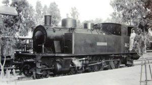 Alcazarquivir-Locomotora línea Larache-Alcazarquivir